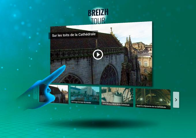 visuel de l'interface BreizhTour VR
